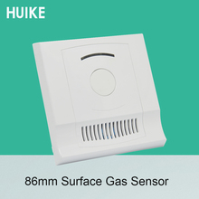 1 Set Surface 86mm Combustible Gas Sensor Smart Home Security NC NO relay Output options Fire Control Natural Gas Detector