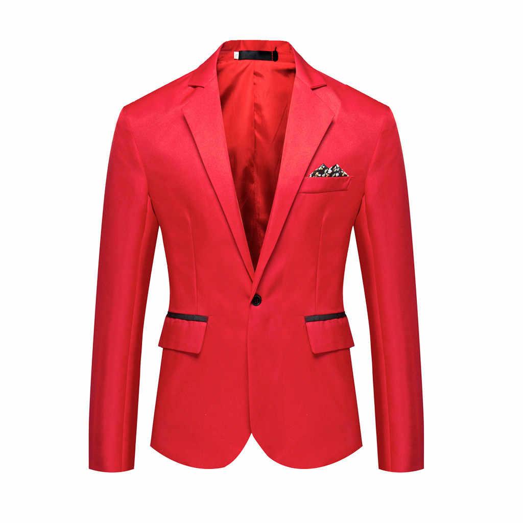 男性のスタイリッシュなカジュアル固体ブレザービジネスウェディングパーティー生き抜くコートスーツ高品質ポリエステル生地新しい 79 トップス