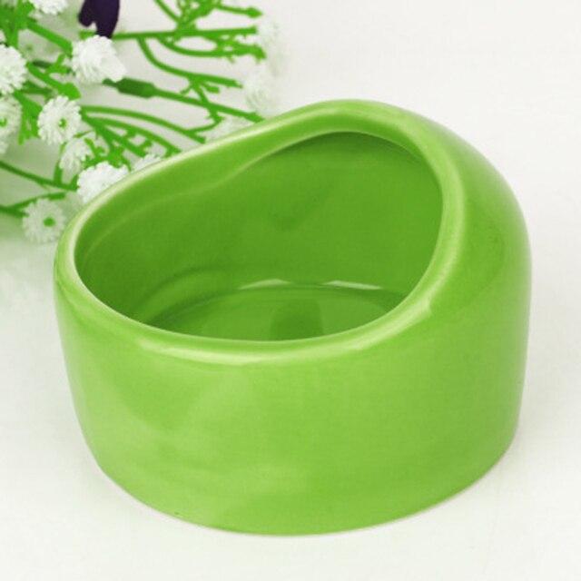 Semi-dome Керамика чаша маленького питомца, чтобы предотвратить от перебирая и грызть на хомяк кормления бассейна Шиншилла круглый чаша