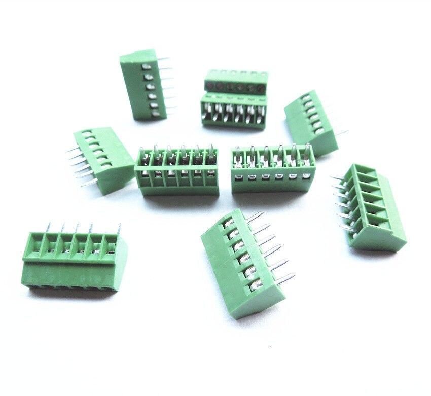 "6 Pin Terminal Block Škoda 1j0973713: 10pcs 6 Poles/6 Pin 2.54mm/0.1"" PCB Universal Screw"