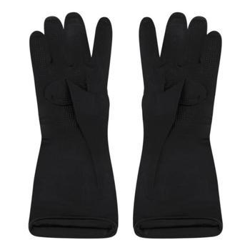 1 Pair Waterproof Antiskid Gloves Hair Perm Hair Shampoo Hair Coloring Black Latex  Reusable Gloves Salon  Styling Tool