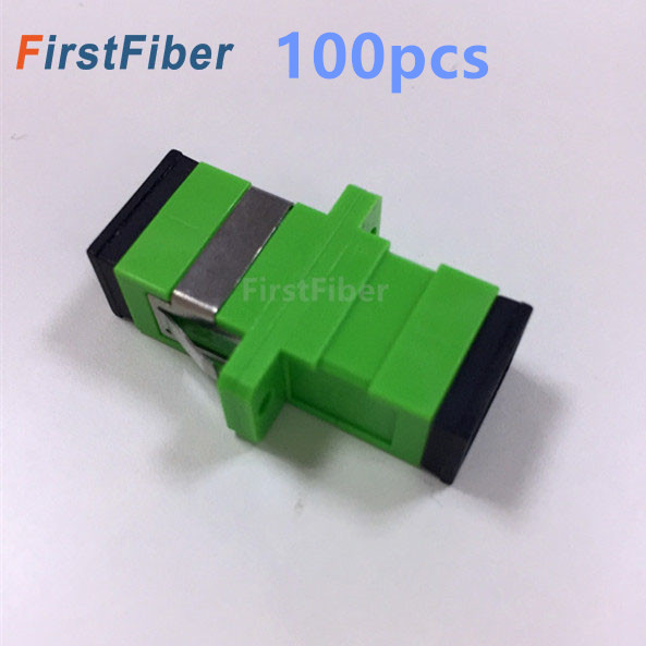 100 stücke SC APC Adapter Stecker Fiber Optic Adapter, Fiber Optic Connector Simplex single mode Kunststoff
