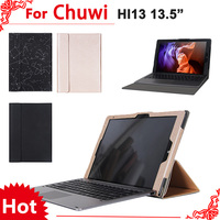 High Quality Stand Pu Leather Case For Chuwi Hi13 13 Tablet PC Fashion Keyboard Protective Sleeve