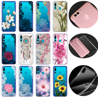 Mandala Sexy Lace Floral Silicone Case For Huawei P Smart Plus 2019 Fundas TPU Flowers Covers For Huawei P Smart P Smart Z Coque