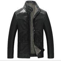 Thick PU Imitation Sheep Skin Leather Jacket Men Fashion Mens Winter Leather Jackets And Coats Male
