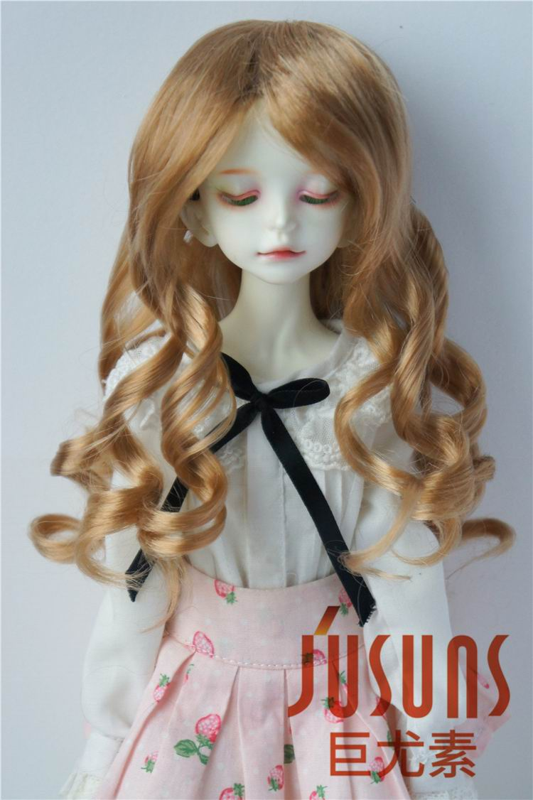 JD154 1/4 synthetic mohair doll wigs Long Lady wave bjd wig ,7-8 inch MSD doll accessories jd212 1 6 1 4 fashion bjd doll wigs yosd msd cute twins pig tails wig size 6 7 inch 7 8 inch heat resistance bjd wigs