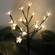 цена на 20 LEDs Solar Tree Night Light Waterproof Warm White Led Solar Lamp Garden Light Outdoor Landscape Lawn Lamp For Patio Christmas