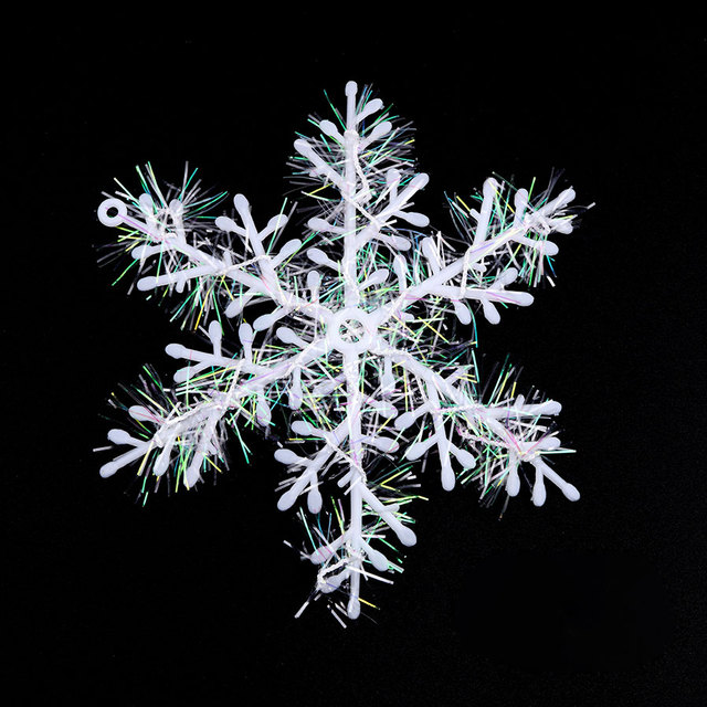 3Pcs/ Set White Snowflake 11cm Christmas Snow Flakes Ornaments Holiday  Christmas Tree Decortion Festival Party