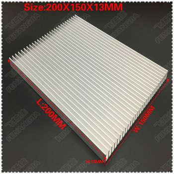 semiconductor cooling plate small air conditioning heat dissipation module portable 12v electronic cooler production kit diy Heatsink 1PCS 200x150x13mm radiator Aluminum heatsink Extruded heat sink for LED Electronic heat dissipation cooling cooler