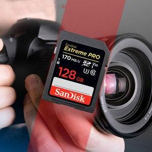 Image 2 - Oryginalny nowy SanDisk ekstremalny profesjonalista karta SD 64GB 128GB 256GB 170 MB/s Carte SD SDXC Class10 C10 U3 V30 4K UHD dla karty SD aparatu