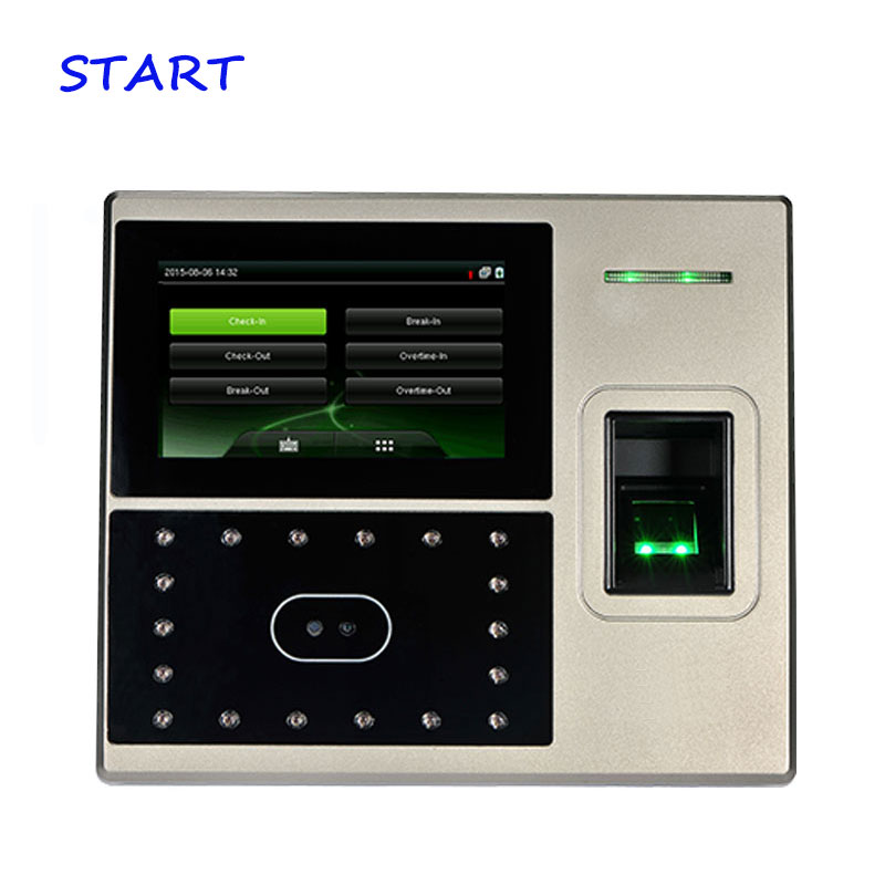 ZK Uface800 Face Time Attendance And Access Control System Fingerprint Time Clock 1200 User Time Recorder