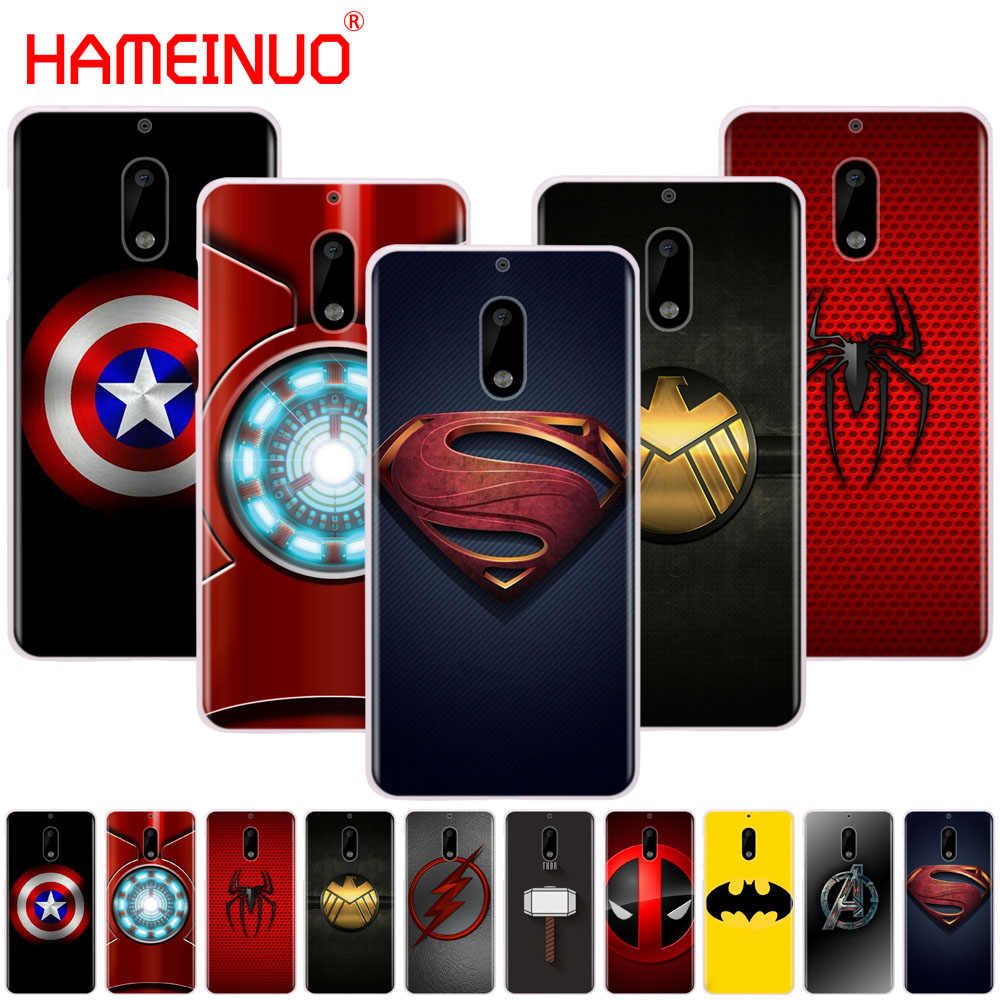 Hameinuo Avengers Super Hero Logo Cover Phone Case untuk Nokia 9 8 7 6 5 3 Lumia 640 640XL 2018