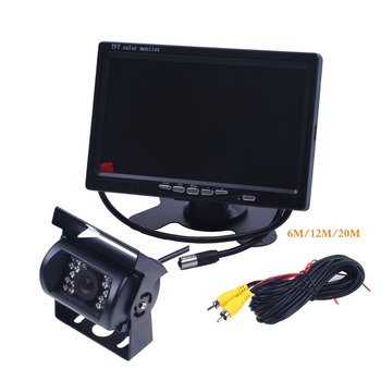 DC 12-24V Bus Truck Parking Camera Monitor Assistance System HD 7 Inch Car Monitors With Rear View Camera RCA Video Cable