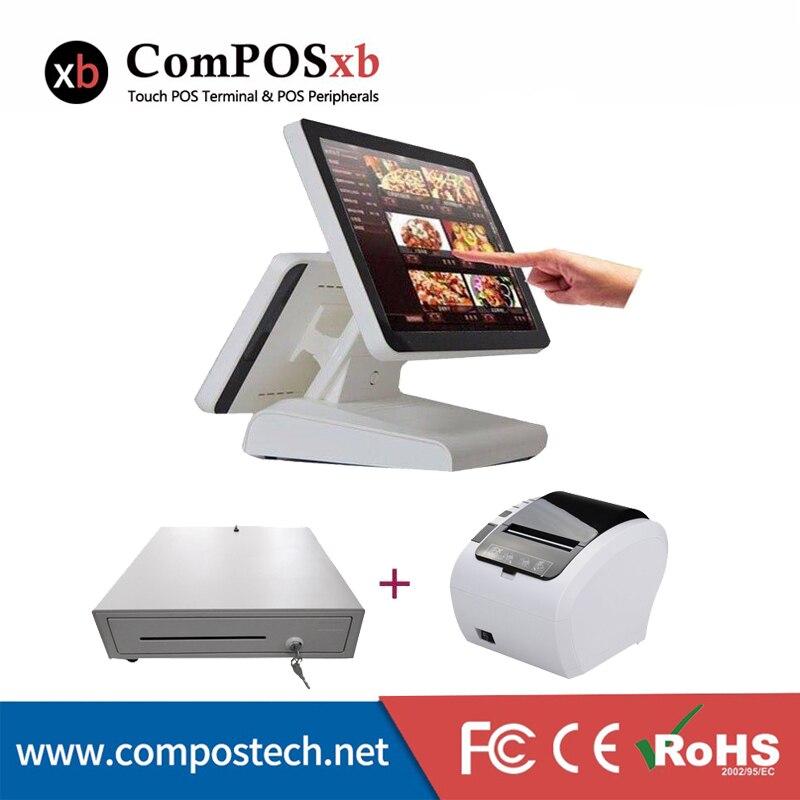 15 caisse enregistreuse de moniteur d'écran tactile tout en un système de point de vente de machine de position de pc