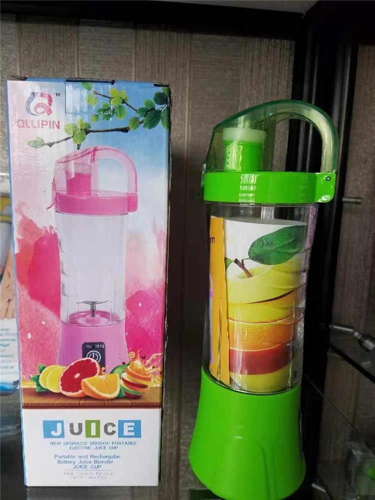 2019 Nova 2 Em 1 Chargable Usb Mobile Power Multi-funcional Blender Blender Juicer Máquina do Fabricante Garrafa de Esportes Portátil juicer