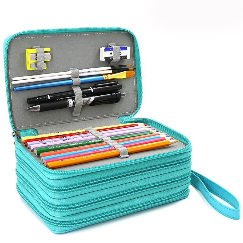 <font><b>Kawaii</b></font> <font><b>School</b></font> <font><b>Pencil</b></font> <font><b>Case</b></font> 72 Holes Penal Pencilcase for Girls Boys Pen Bag Large Cartridge Penalties <font><b>Big</b></font> Box Stationery Pouch image