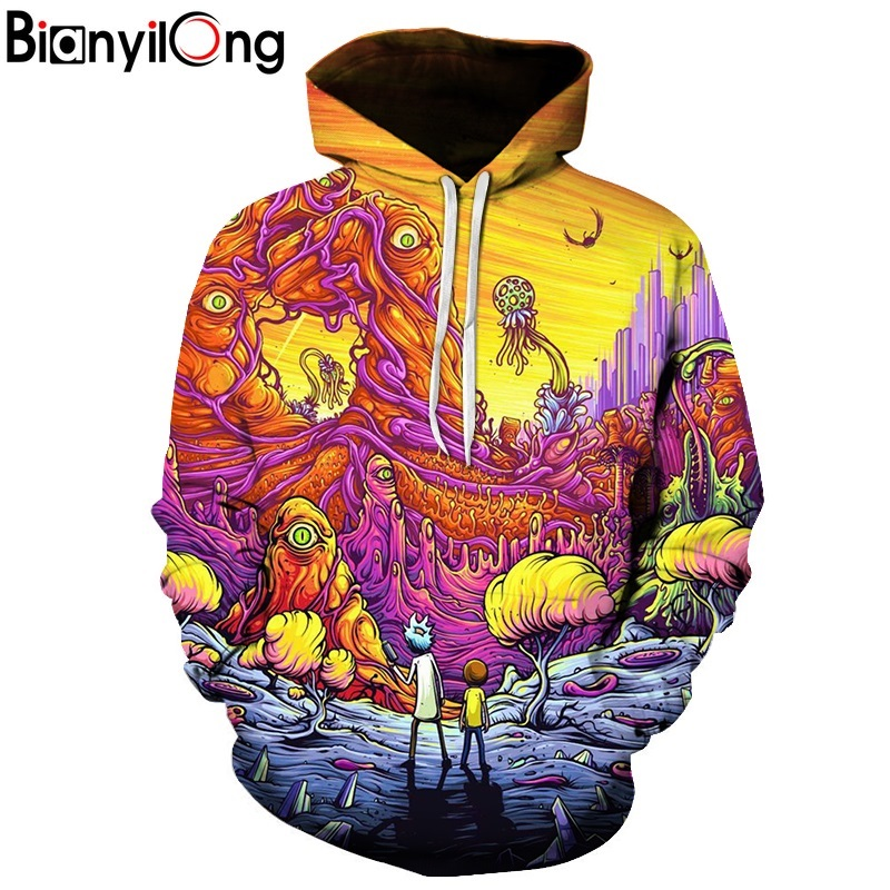 Rick and Morty 3D Hoodies Brand Hoodies Men Sweatshirts Game Hooded Tracksuits Fashion Pullover Fashion Thin Brand Jacekts