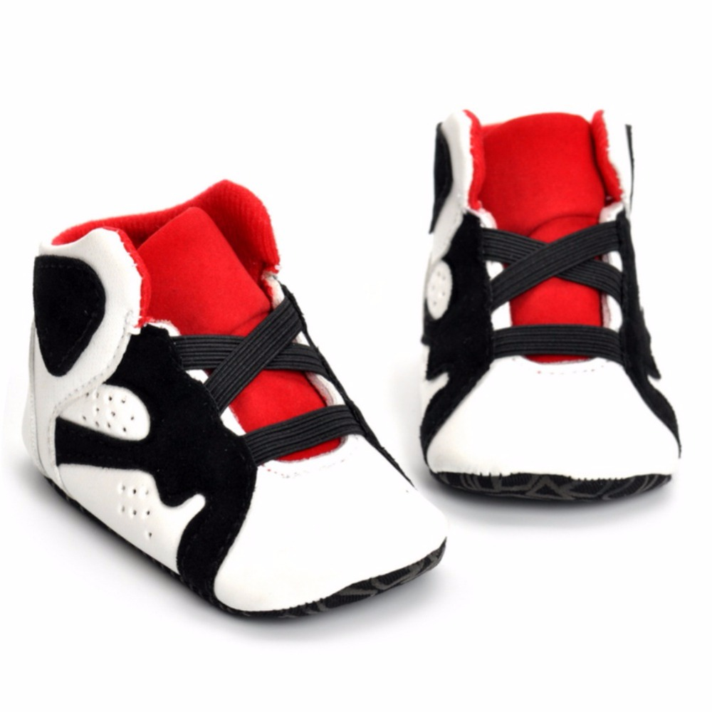 Hot Autumn PU Soft Cotton Sports Shoes Baby Boys Girls Sneakers Riband Lace-Up Glowing Sneakers