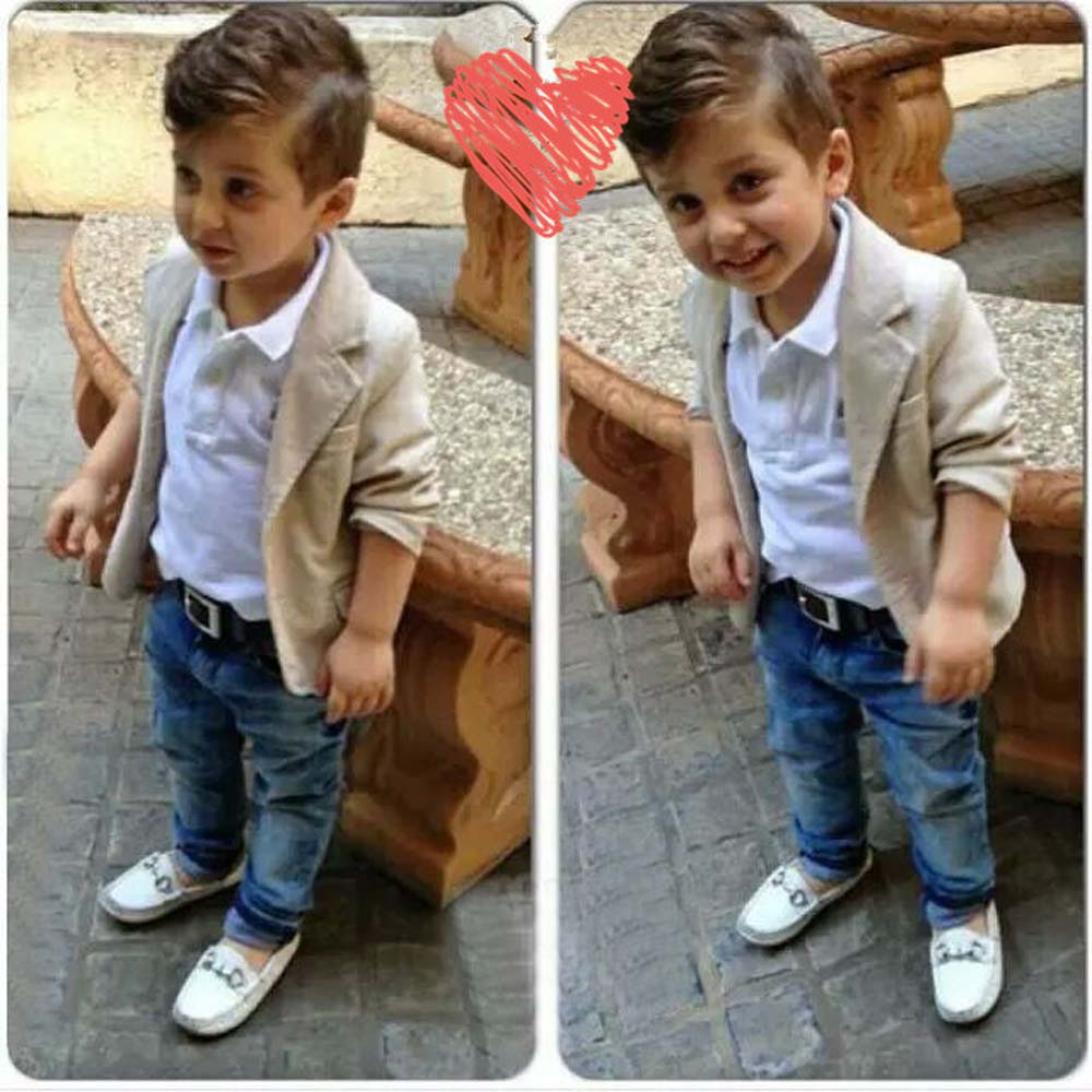 Christmas Jacket+Tops+Jeans Pants 3 Pieces Toddler Boys Clothing Sets Kids Clothes Suit for Birthday Winter Boy Infant Clothes christmas kids clothing sets 100