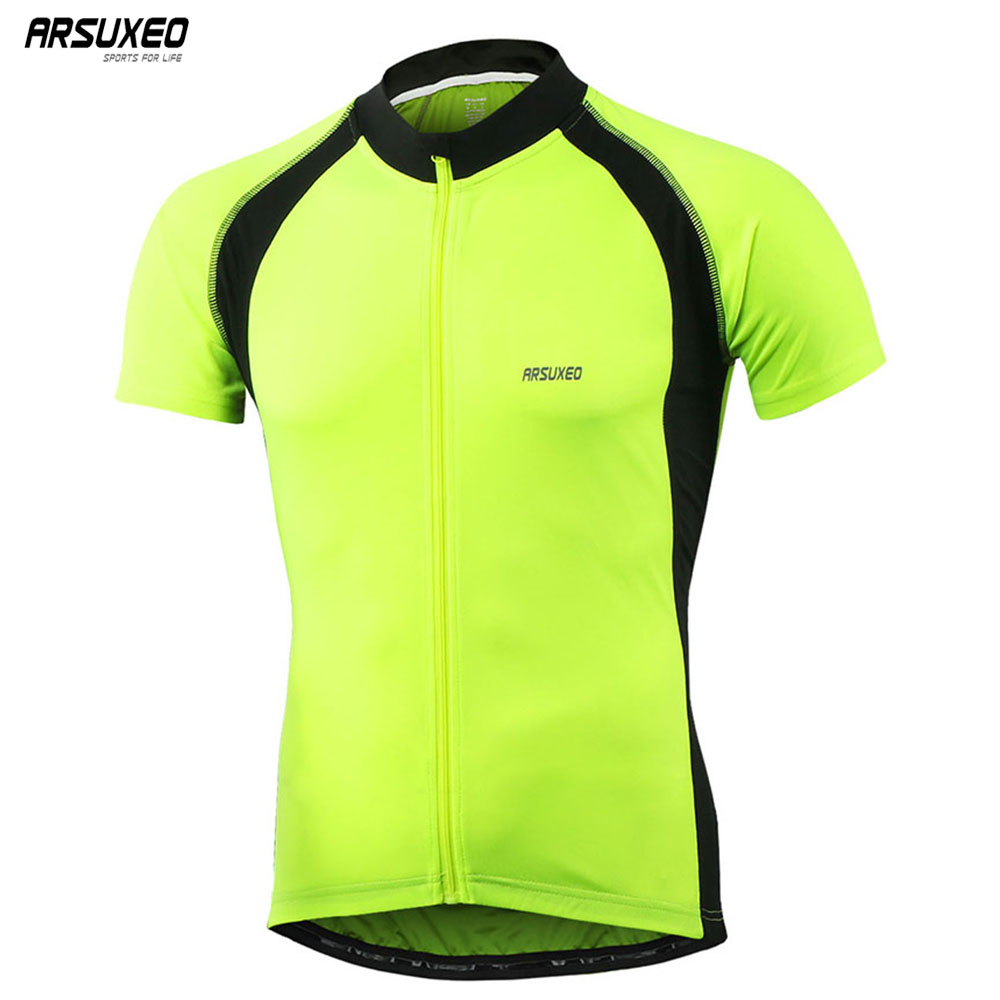 756f50c6aea ARSUXEO Men s Cycling Jersey Short Sleeves Spring Summer Bike Bicycle MTB  Clothing T Shirts Wear Bike