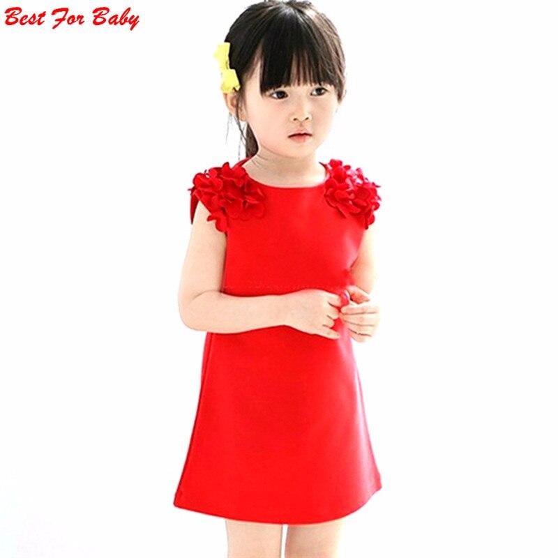 Hot Summer Baby Kids 1 Year Girls Flower Sleeveless Princess Mini font b Dress b font