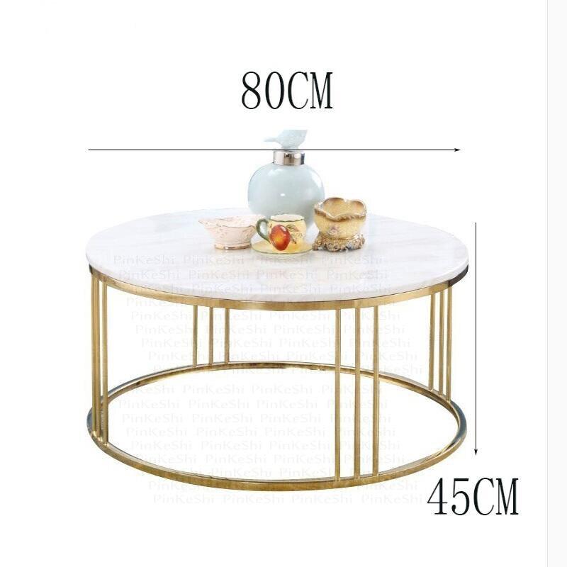 Glass marble coffee table iron bracket leg table frame coffee table