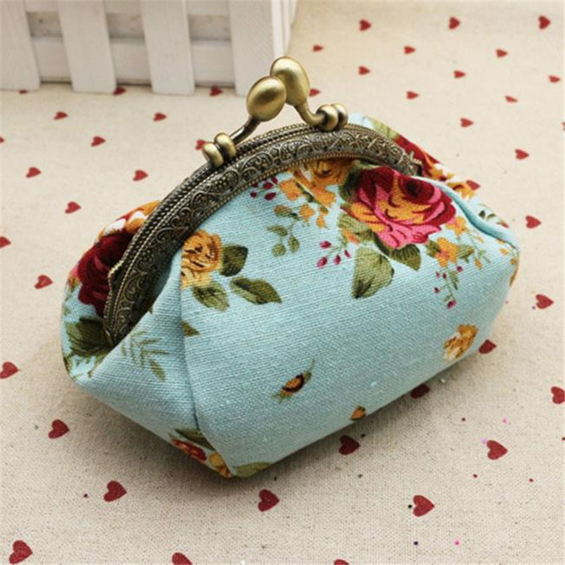 Excellent Quality Women Cute Coin Purse Top Small Wallet Girls Change Pocket Pouch Hasp Key Bag Metal Bar Opening New for Gift