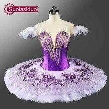 New Arrival Adult Purple Professional Tutu Classical Ballet Girls Stage Ballerina Costume Dancewear SD0049