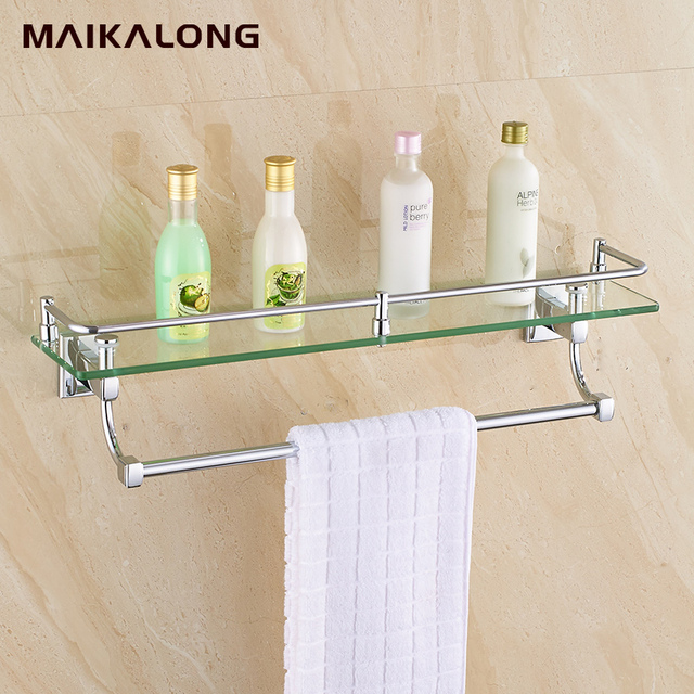 New luxury Bathroom Accessories chrome Finish With Tempered Glass ...