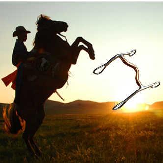 Đồng hồ nam Dây Thép Không Gỉ Snaffle Bit Ngựa Miệng Sản Phẩm Không Bao Giờ Gỉ Ngựa Hơi Kiềm Chế Bit Cưỡi Ngựa Thiết Bị Thú Cưỡi Ngựa Ngựa Nhai