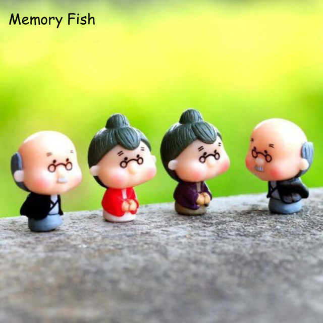 Toys For Grandparents House : Aliexpress buy cute old grandparents model toy micro