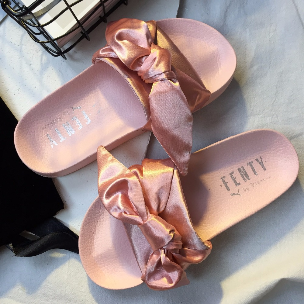 Puma X Fenty Bandana Slide Rihanna Bow Women s Slide Classic Waterproof  Beach Slippers Size35.5 40.5-in Badminton Shoes from Sports   Entertainment  on ... 370b28727