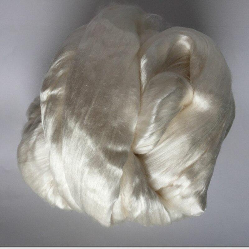 A grade mulberry silk roving 100 silk top fiber for spinni ng 500g 4balls lot