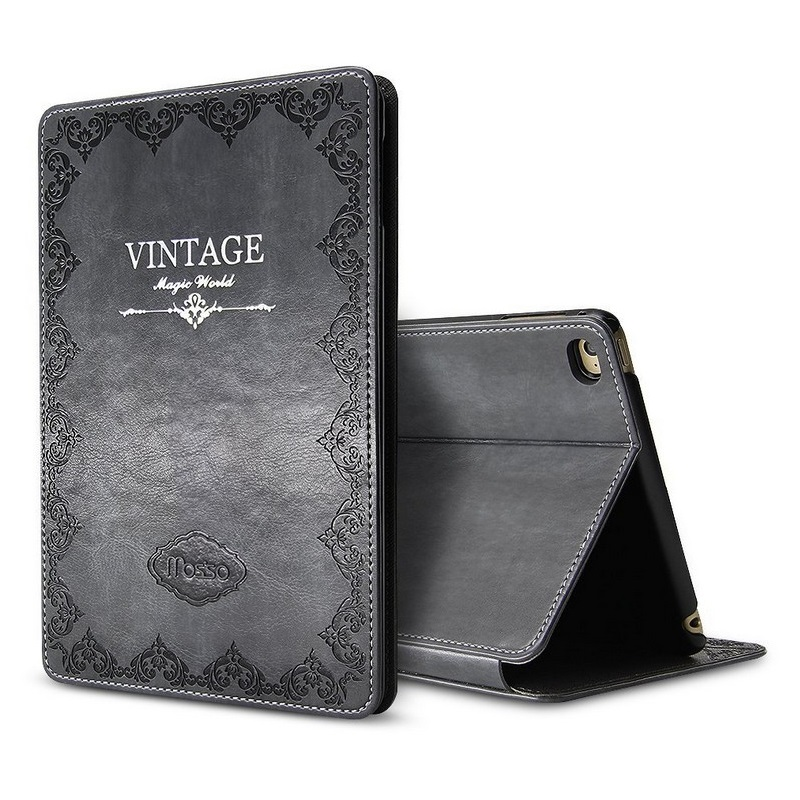 Solque Retro Vintage Flip Smart Cover for iPad Air 2 Air2 9.7 inch Tablet Case Luxury PU Leather Slim Hard Shell Auto Sleep двухкамерный холодильник позис rk fnf 172 bg