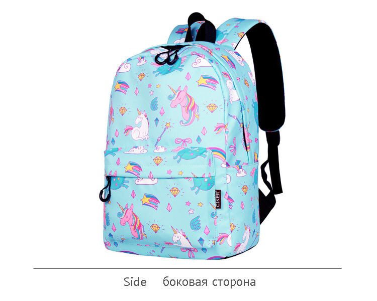 WINNER School Backpack Cartoon Rainbow Unicorn Design Water Repellent Backpack For Teenager Girls School Bags Mochila (8)