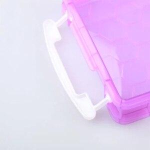 Image 4 - JianHua Large Paint Brush Storage Box Transparent Window Pencil Case 390*135*45 mm Painting Supplies