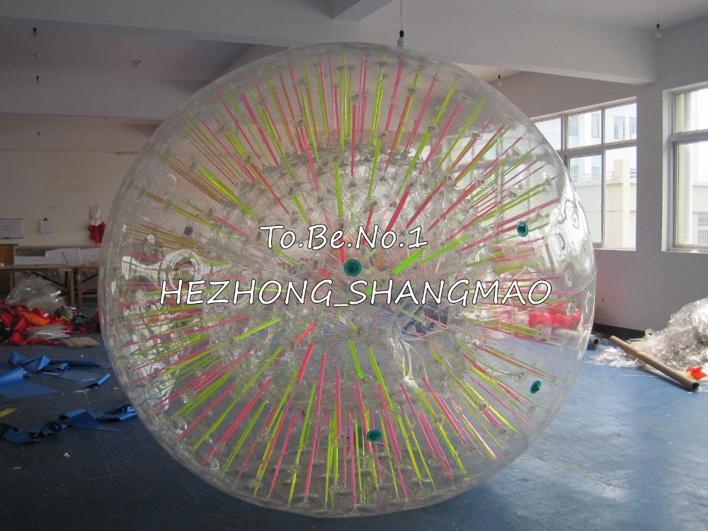 3.0M*2.2M  Inflatable Zorb ball Zorbing Human Hamster ball 1300W Blowers X1 free shipping inflatable water walking ball water rolling ball water balloon zorb ball inflatable human hamster plastic ball