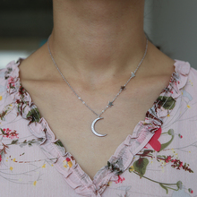 FREE SHIPPING !! Moon Star Charm Choker Necklace JKP995