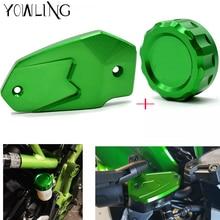 Z800 Z900 Cylinder Rear Fuel Brake Fluid Reservoir Cover Tank Cap For Kawasaki z800 2013 2014 2015 2016 2017