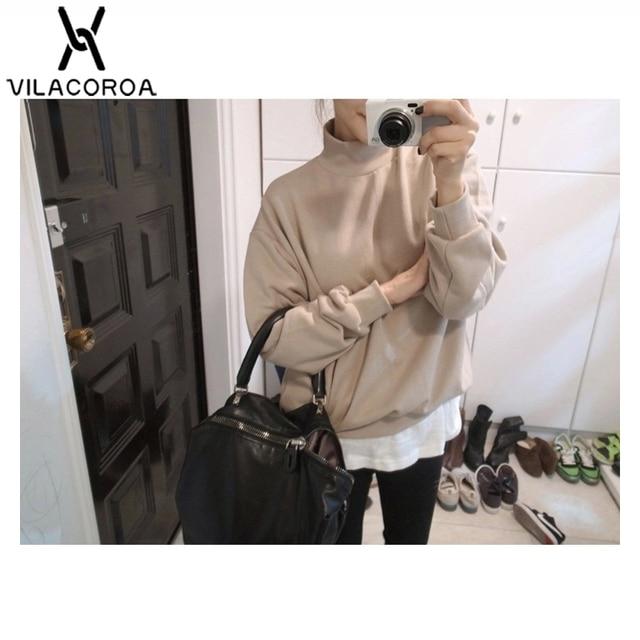 9 Colors Winter Solid Color Round Neck Long Sleeve Velvet Warm Sweatshirts Women Korean style Loose Hoodies Female Casual Coat 5