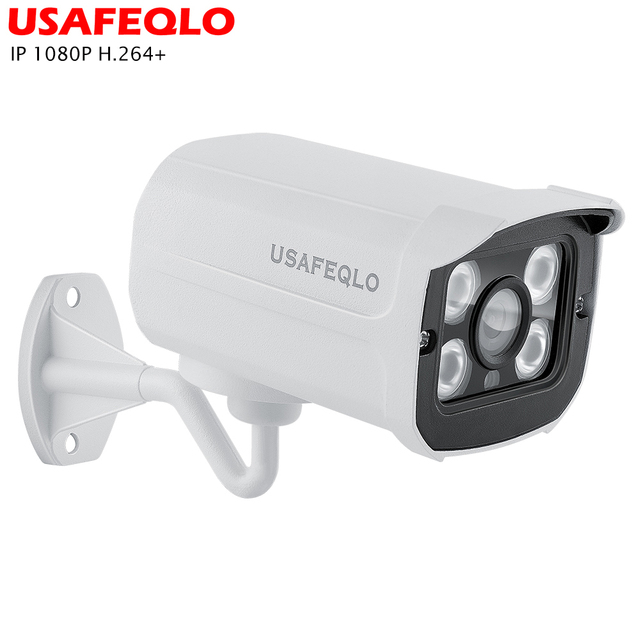 USAFEQLO H.264 + 2MP Bullet 1080P IP מצלמה חיצוני IR 30m HD אבטחה עמיד למים ראיית לילה P2P CCTV IP מצלמת ONVIF IR לחתוך XMEye