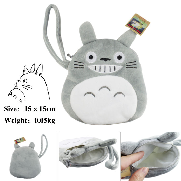 Cotton Flannel Penny Bag Of Anime My Neighbour Totoro Smiling Totoro Coin Purse penny dale ten out of bed