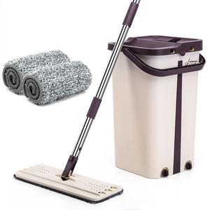 Image 1 - Flat Squeeze Mop and Bucket Hand Easy Wringing Floor Cleaning Mop Microfiber Mop Pads Wet or Dry Usage on Hardwood Laminate Tile