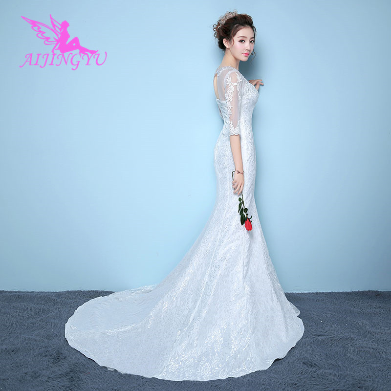 AIJINGYU dresses wedding dress bridal shop online china WK195-in Wedding Dresses from Weddings & Events    1