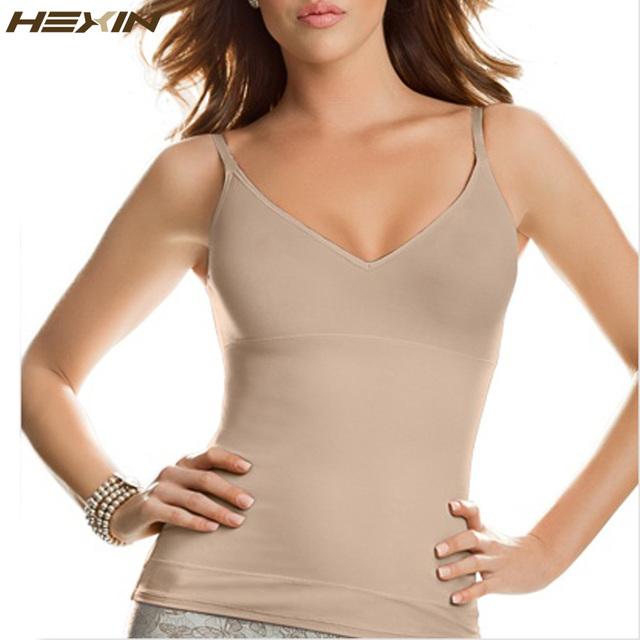 Hexin envío body shaper adelgazamiento body sin mangas de costura de las mujeres tank top mujeres fajas body tummy control de cintura trainer