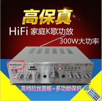 DIY 220V Power Amplifier 100w 100w Card Ring Cow With Remote Multifunction Home Audio Amplifier Kara