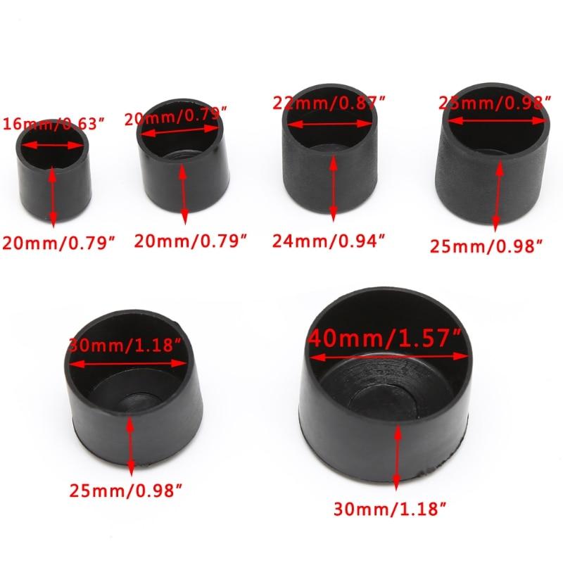 4pcs Furniture leg Rubber Chair Ferrule Anti Scratch Furniture Feet Leg Floor Protector Caps 5