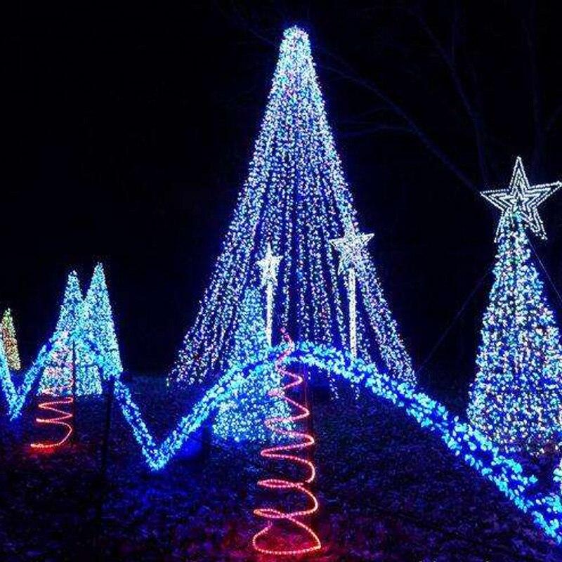 LED string lights 10M waterproof 110V / 220V 100 LED holiday lights string 9 color Christmas party outdoor decorative lights