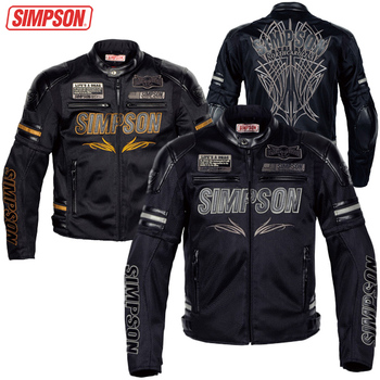 NEW MOTORCYCLE RACING  MESH SUMMER JACKET SJ-6115B   AIR FLOW  Removable sleeve SIMPSON メッシュ 夏 バイク ジャケット