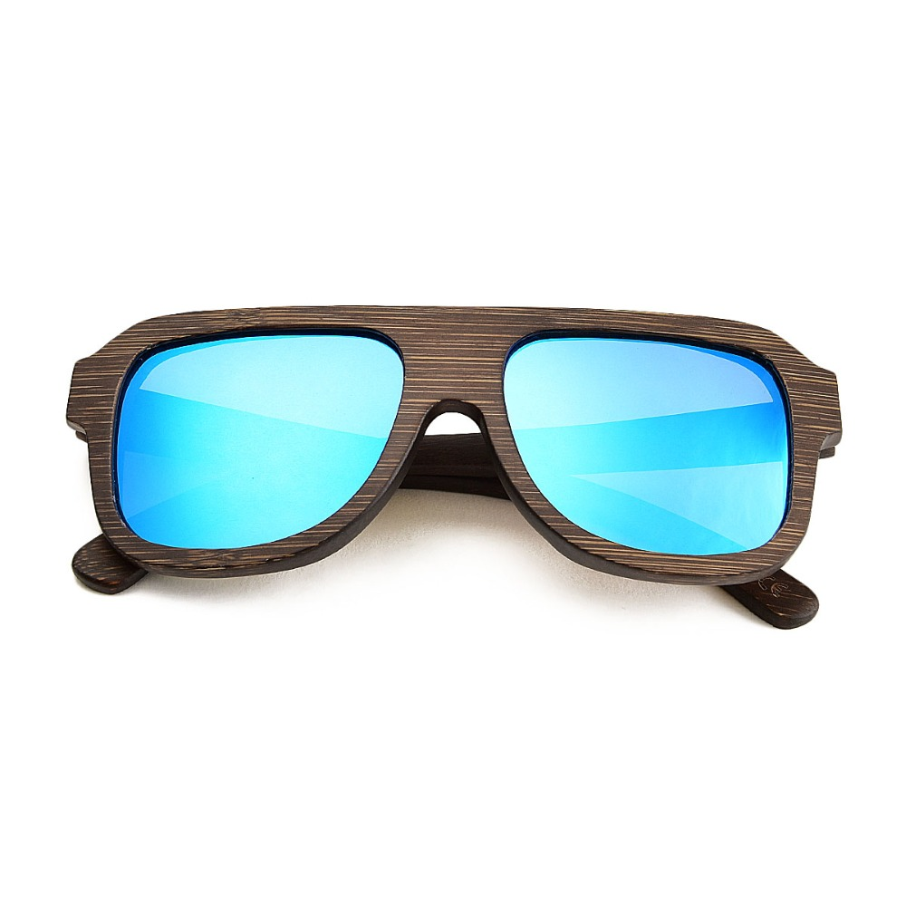 e684b3bfbd JANGOUL Brown Wooden Sunglasses Men Women Polarized Bamboo Sun Glasses  Mirror Goggle Square Eyewear 058-in Sunglasses from Apparel Accessories on  ...
